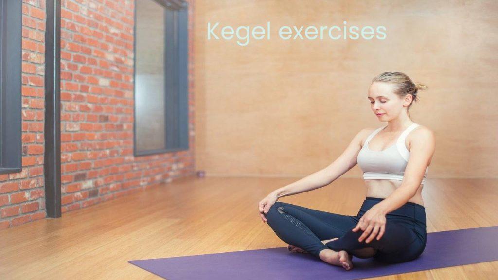 Kegelexercises for pelvic