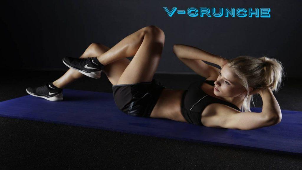 V-crunches for pelvic floor